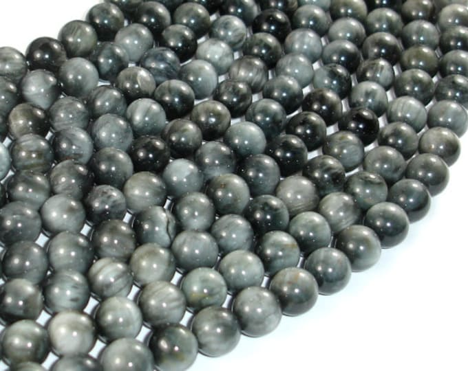 Hawk Eye Beads, 8mm Round Beads, 16 Inch, Full strand, Approx 50 beads, Hole 1mm, A quality (274054005)