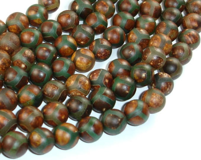 Tibetan Agate, 10mm(10.5mm) Round Beads, 15.5 Inch, Full strand, Approx 38 beads, Hole 1.2mm (122054278)