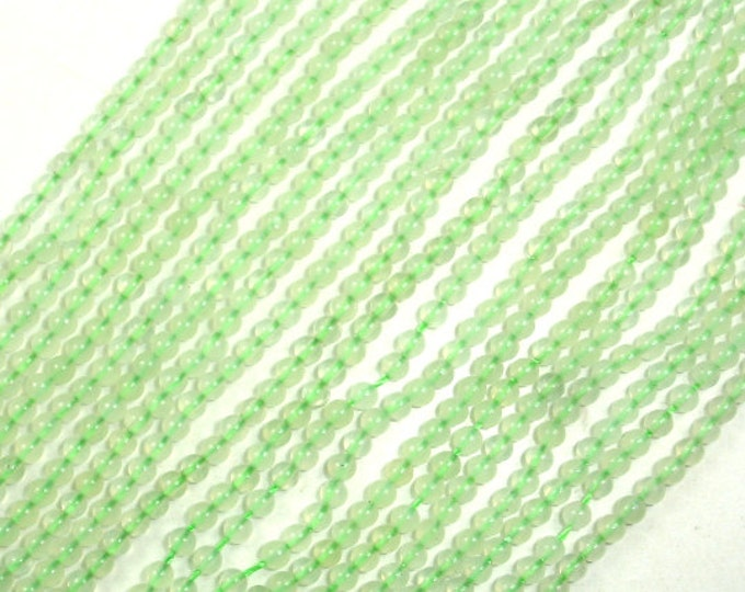 New Jade Beads, Round, 2 mm 15.5 Inch, Full strand, Approx 185 beads, Hole 0.4 mm, A quality (329054005)