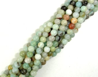 Amazonite Beads, 4mm (4.3 mm) Round Beads, 15.5 Inch, Full strand, Approx 97 beads, Full strand, Hole 0.8 mm (111054022)