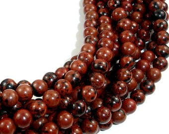 Mahogany Obsidian Beads, Round, 6mm, 15.5 Inch, Full strand, Approx 64 beads, Hole 1 mm, A quality (311054002)