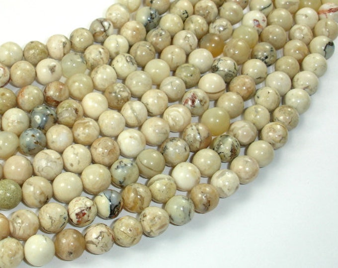 African Opal, 8mm (8.3mm) Round Beads, 15.5 Inch, Full strand, Approx 48 beads, Hole 1mm, A quality (107054002)