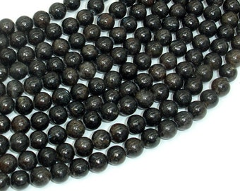 Astrophyllite Beads, 6mm(6.4mm) Round Beads, 15.5 Inch, Full strand, Approx 64 beads, Hole 1mm, A quality (126054003)