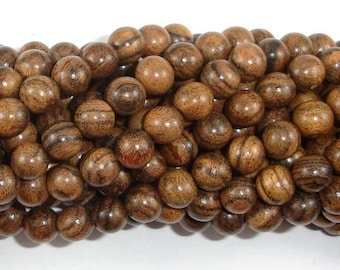 Tiger Skin Sandalwood Beads, 8mm(8.3mm) Round Beads, 33 Inch, Full strand, Approx 108 Beads, Mala Beads (011744002)