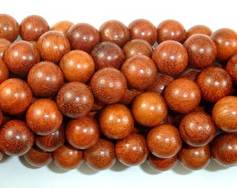 Rosewood Beads, 10mm Round Beads, 42 Inch, Full strand, Approx 108 Beads, Mala Beads (011737005)