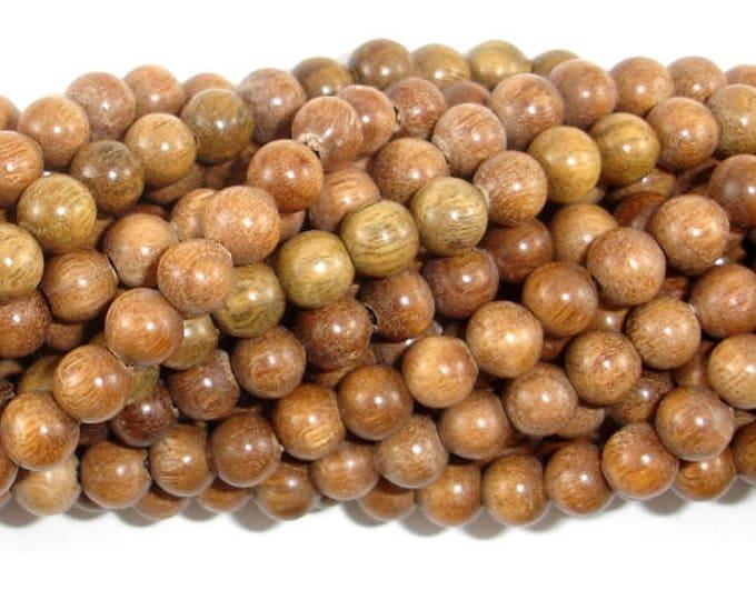 Green Sandalwood Beads, 6mm Round Beads, 25 Inch, Full strand, Approx 108 Beads, Mala Beads (011734001)