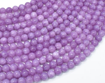 Malaysia Jade Beads- Lilac, 6mm (6.4mm) Round Beads, 15 Inch, Full strand, Approx 62 beads, Hole 1mm, A quality(211054182)