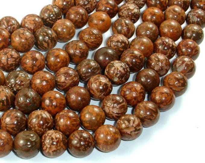 Firework Jasper, 10mm (10.5mm) Round Beads, 15.5 Inch, Full strand, Approx 38 beads, Hole 1mm, A quality (260054004)