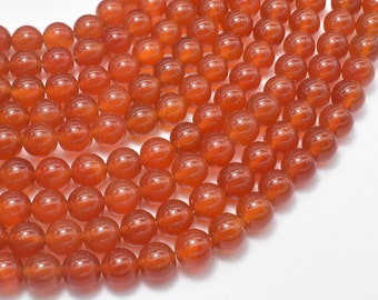 Carnelian Beads, Round, 8mm(8.3mm), 15.5 Inch, Full strand, Approx 48 beads, Hole 1mm, AA quality (182054022)