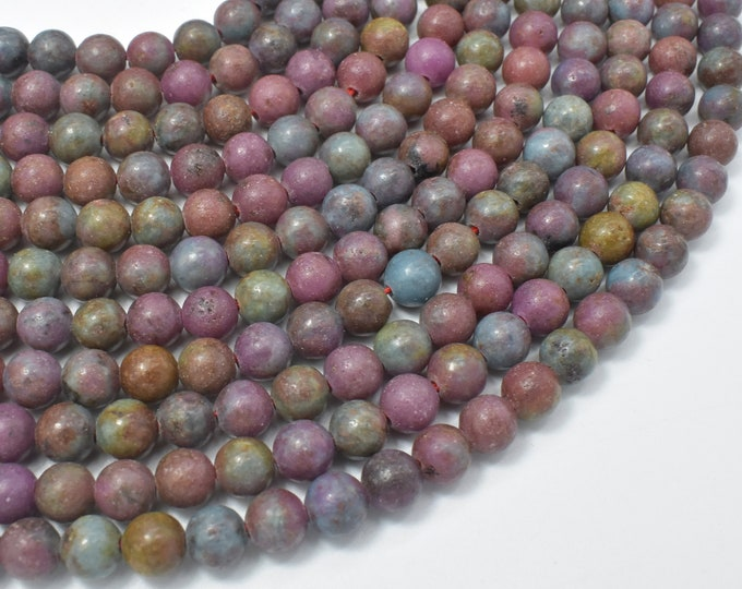 Ruby in Kyanite, Ruby Apatite, 6mm (6.5mm) Round Beads, 15.5 Inch, Full stand, Approx 62 beads, Hole 1mm (309054004)