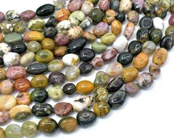 Ocean Jasper, Approx 6x8mm Nugget Beads, 15.5 Inch,Full strand, Approx 44-48 beads, Hole 1mm (330047001)