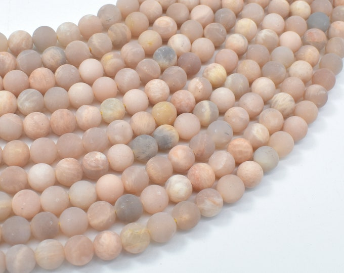 Matte Sunstone Beads, Round, 6mm (6.3mm), 15.5 Inch, Full strand, Approx 64 beads, Hole 0.8mm (418054006)
