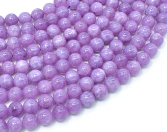 Malaysia Jade Beads- Lilac, 8mm (8.5mm) Round Beads, 15 Inch, Full strand, Approx 46 beads, Hole 1mm, A quality(211054183)