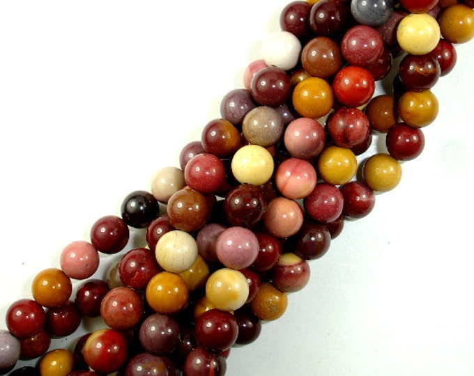 Mookaite Beads, Round, 8mm, 15.5 Inch, Full strand, Approx 46 beads, Hole 1 mm, A quality (320054002)