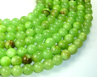 Afghan Jade Beads, Round, 12mm, 15 Inch, Full strand, Approx 33 beads, Hole 1 mm (287054002)
