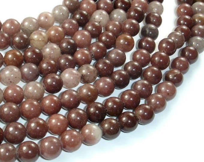 Purple Aventurine Beads, 8mm(8.4mm) Round Beads, 15.5 Inch, Full strand, Approx 48 beads, Hole 1mm (360054004)