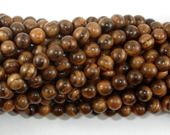 Tiger Skin Sandalwood Beads, 6mm Round Beads, 26 Inch, Full strand, Approx 108 Beads, Mala Beads (011744001)