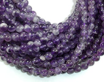 Amethyst Beads, Approx 5.5mm Round Beads, 15.5 Inch, Full strand, Approx 72 beads, Hole 0.8mm (115054018)