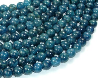 Apatite Beads, 8mm Round Beads, 15.5 Inch, Full strand, Approx 50 beads, Hole 1mm (120054011)