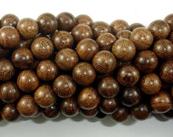 Gold Phoebe Ebony Beads, Gold Wire Sandalwood, 8mm Round Beads, 34 Inch, Full strand, Approx 108 Beads, Mala Beads (011745001)