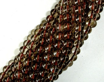 Smoky Quartz Beads, 6mm Round Beads, 15.5 Inch, Full strand, Approx 64 beads, Hole 1 mm, A quality (408054006)