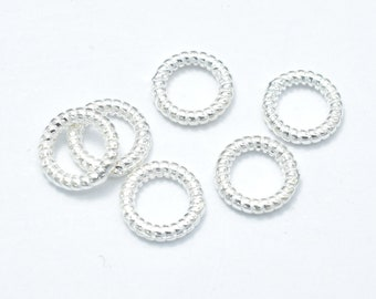 6pcs 925 Sterling Silver Jump Ring-Closed, 7.8mm, 1.5mm (18guage), Jewelry Findings (007909004)