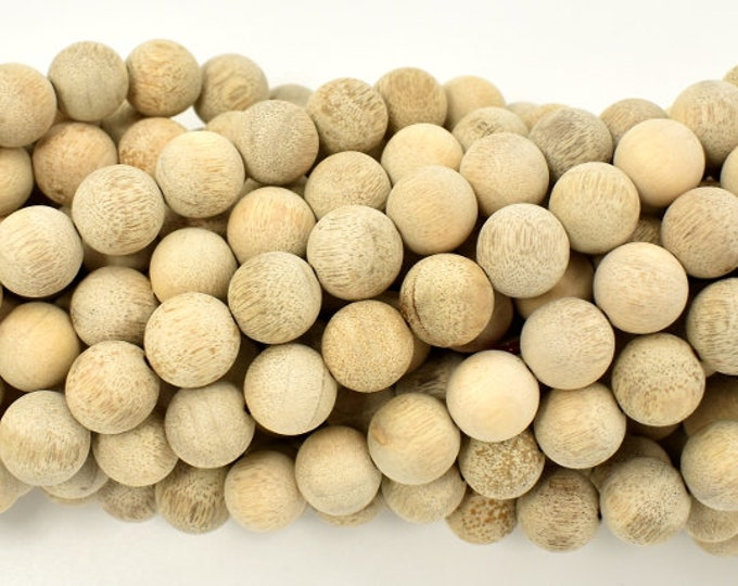 Matte Silkwood Beads, 10mm(10.3mm) Round Beads, 42 Inch, Full strand, Approx 108 Beads, Mala Beads (011739003)