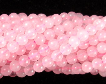 Rose Quartz Beads, 4mm (4.5mm) Round Beads, 15.5 Inch, Full strand, Approx 92 beads, Hole 0.8 mm, A quality (391054001)