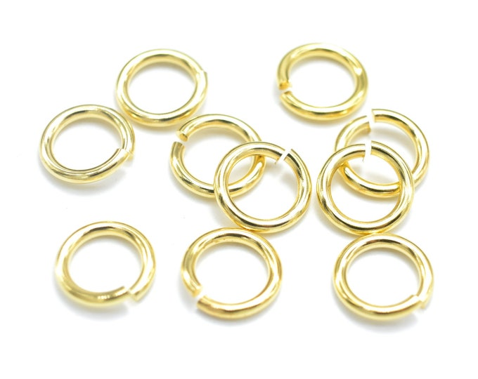 300pcs 6mm Open Jump Ring, 0.8mm (20gauge), Gold Plated (006862005)