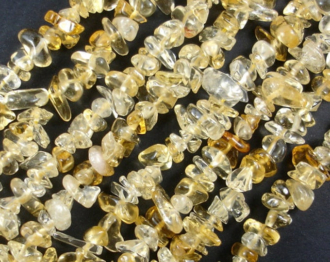 Citrine Beads, Pebble Chips, Approx (4-7) mm, 15.5 Inch, Full strand, Hole 0.8 mm (197005002)