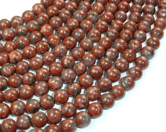 Red Sesame Jasper Beads, 8mm Round Beads, 15.5 Inch, Full strand, Approx 50 beads, Hole 1 mm (288054013)