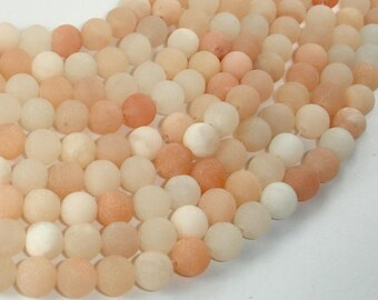 Matte Pink Aventurine Beads, 8mm (8.7mm) Round Beads, 15 Inch, Full strand, Approx 45 beads, Hole 1mm (353054006)