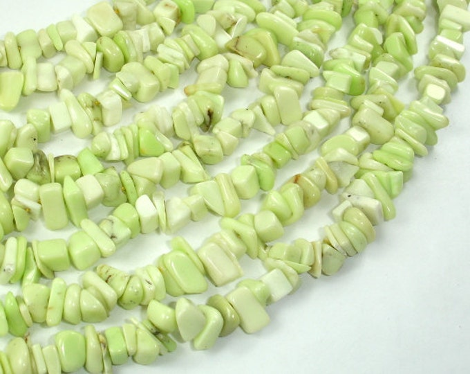 Lemon Chrysoprase Beads, Approx 4mm-10mm Chips Beads, 16 Inch, Full strand, Hole 0.8mm (302005001)