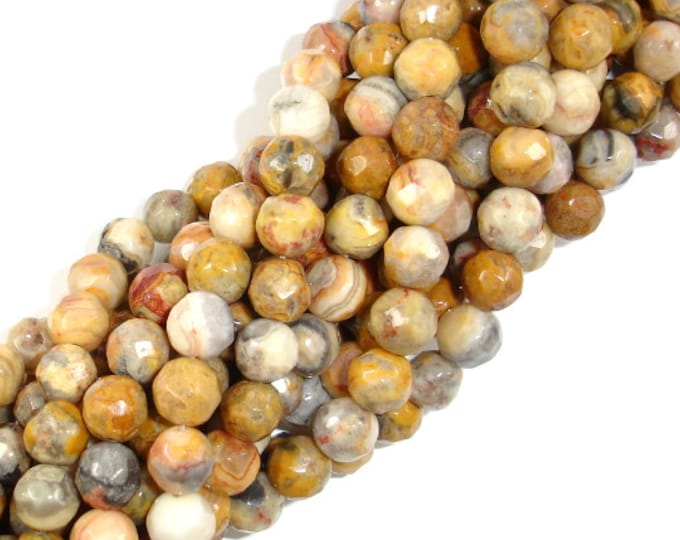 Crazy Lace Agate Beads Faceted Round, 8mm, 15.5 Inch, Full strand, Approx 49 beads, Hole 1mm (202025003)