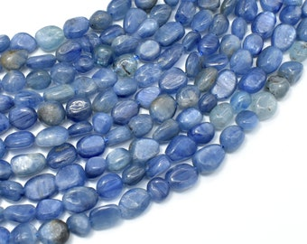 Kyanite Beads, Approx 6x8mm Nugget Beads, 15.5 Inch,Full strand, Approx 48-52 beads, Hole 1mm (294047001)