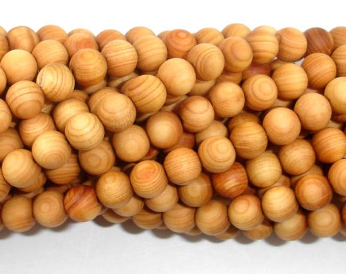 Cedar Wood  Beads, Thuja Sutchuenensis, 6mm(6.5mm) Round, 26 Inch, Full strand, Approx 108 Beads, Hole 1.2mm, Mala Beads (011730002)