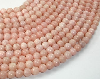 Pink Opal, 6 mm  Round Beads, 15 Inch, Full strand, Approx 68 beads, Hole 1mm (350054006)