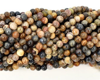 Pietersite Beads, 4mm (4.3mm) Round Beads, 15.5 Inch, Full strand, Approx 96 beads, Hole 0.6mm, A- quality (346054004)