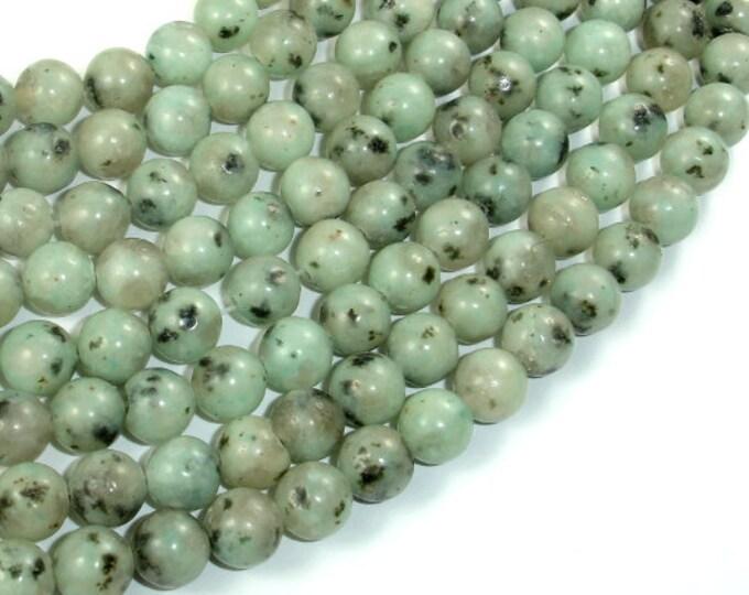 Sesame Jasper Beads, Kiwi Jasper, 8mm (8.5mm) Round Beads, 15.5 Inch, Full strand, Approx 47 beads, Hole 1mm (402054005)