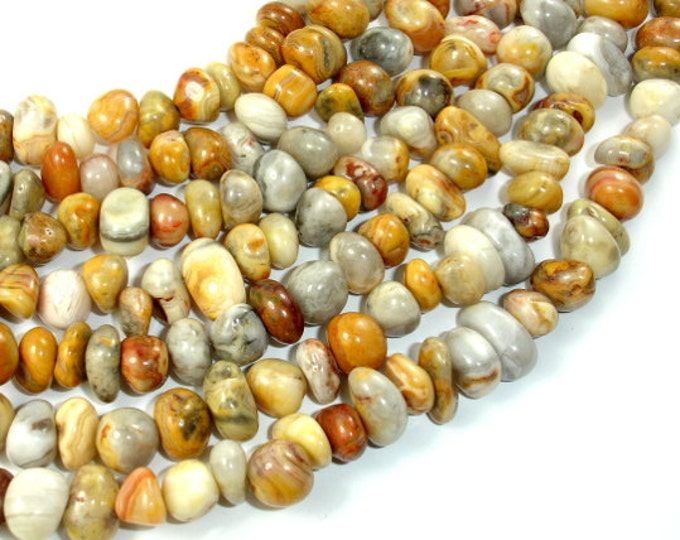 Crazy Lace Agate Beads,Approx (8-9)mm x (9-12)mm Pebble Nugget Beads, 15.5 Inch, Full strand, Approx 58-64 beads, Hole 1 mm (202047002)