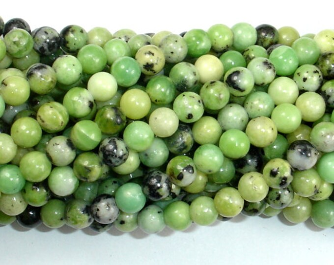 Chrysoprase Beads, 6mm Round Beads, 16 Inch, Full strand, Approx 67 beads, Hole 0.8mm, A quality (190054007)