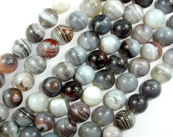 Botswana Agate Beads, 10mm Round Beads, 15.5 Inch, Full strand, Approx 38 beads, Hole 1 mm, AA quality (167054007)