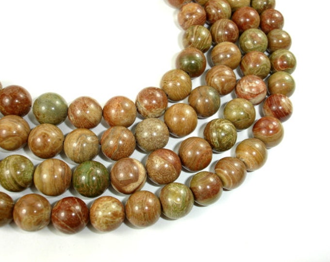 Saturn Jasper Bead, 10mm (10.5 mm) Round Beads,  15.5 Inch, Full strand, Approx 37 beads, Hole 1 mm, A quality (398054003)