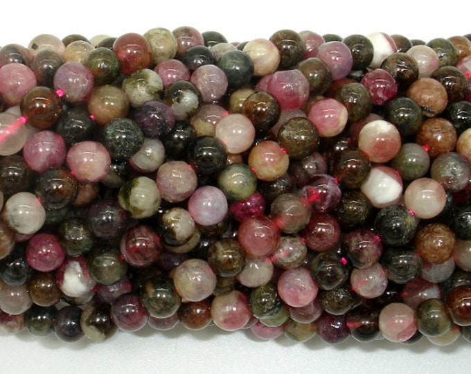 Tourmaline Beads, 4mm(4.5mm) Round Beads, 15.5 Inch, Full strand, Approx 90 beads, Hole 0.8mm, AB quality (427054015)