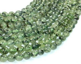 Prehnite Beads, 8mm (8.3mm) Round Beads, 15.5 Inch, Full strand, Approx 48 beads, Hole 1mm (265054008)