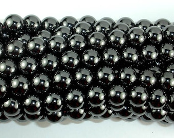 Magnetic Hematite Beads, 10mm Round Beads, 16 Inch, Full strand, Approx 40 beads, Hole 1 mm, A quality (269054009)