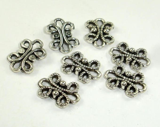 Metal Links, Connector Links, Zinc Alloy, Antique Silver Tone, 9x12xmm, 30 pcs (006864002)
