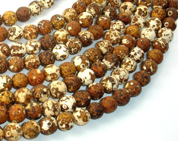 Matte Antique Agate Beads, 8mm Round Beads, 15 Inch, Full strand, Approx 47 beads, Hole 1 mm (122054088)