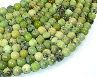 Chrysoprase Beads, 8mm Round Beads, 15.5 Inch, Full strand, Approx 48 beads, Hole 1mm(190054008)