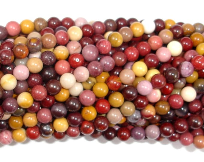 Mookaite Beads, 4mm (4.5 mm) Round Beads, 15.5 Inch, Full strand, Approx 92 beads, Hole 0.6 mm, A quality (320054009)